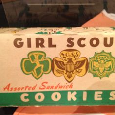 Vintage box of Girl Scout cookies