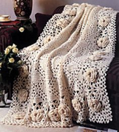 Roses Remembered Afghan, free pattern, ravelry.com