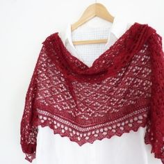 Knit this beautiful shawl as a Christmas gift for someone special -  easy to follow charts and written description included.