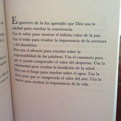 Manual del guerrero de la luz - Paulo Coelho. Uno de mis escritores favoritos!