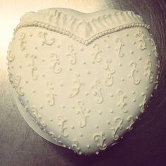 Brides heart cake   #bridalshowercake #showercake #sweetruminations  (at Sweet Ruminations 228 York Rd Ste B Warminster PA 18974)
