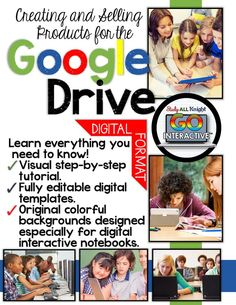 Google Drive Toolkit Creating and Selling Products for the Google Drive Commercial and Personal Use ($) creating Digital Interactive Notebook