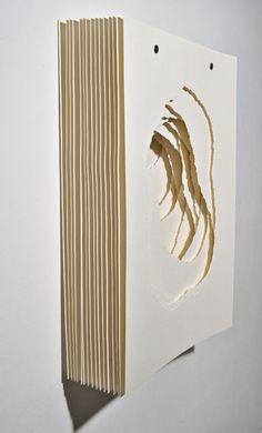 Art Paris 2014 Contemporary Art Fair Angela Glajcar Terforation, 2011 Installation, Work on paper 70 3d Paper Art, Origami Paper Art, Paper Artwork, Cardboard Sculpture, Cardboard Art, Belleza Colateral, Abstract Sculpture, Sculpture Art, Modern Art