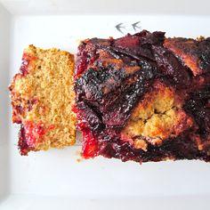Cozinhar sem Lactose: Bolo de lima com ameixas e gengibre