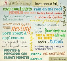 Get inspired! Create a list of 20 Little Things You Love About Fall! Link up at The Inspired Room!