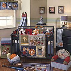 Lambs & Ivy Playoffs 6-piece Crib Bedding Set | Overstock.com Shopping - Big Discounts on Lambs & Ivy Bedding Sets