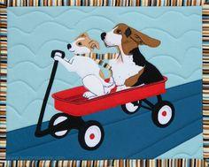 Charly & Wilbur - a Puppy Mug Rug by Lara Buccella | BuzzinBumble