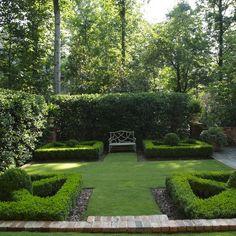 Boxwood Parterres - landscape - birmingham - Troy Rhone Garden Design