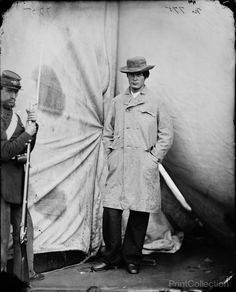 Lewis Payne, the Conspirator who Attacked Secretary Seward - Washington Navy Yard, D.C., April 1865.     Later captured by Union troops when he attempted to rejoin his co-conspirators at a Washington DC boardinghouse.  After being found guilty of conspiracy and attempted murder.
