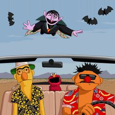 Bert and Ernie take a Fear and Loathing style trip to Las...