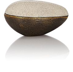 Ginger Brown Brass & Shagreen Small Bowl - Boxes & Baskets - 503970622