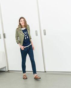 Zara Jewelled Bio Sandals | Lyst