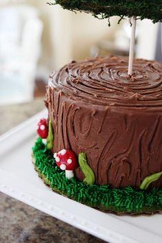 WOODLAND BIRTHDAY PARTY » Kelly Hicks | Gorgeous cake!