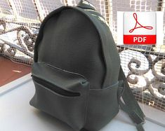 Patrón mochila de cuero Leather Bag Pattern, Backpack Pattern, Leather Backpack, Backpacks, Etsy, Fashion, Leather Shoes, Sewing By Hand, How To Make Bags