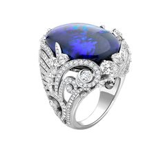 Rare & Important Pieces ~ David Marshall London. This incredible ring is known as the secret garden opal.