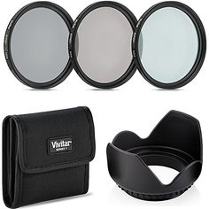 77mm Easy Screw-On Neutral Density Photography Filters + Tulip Lens Hood (7 Compact DSLR Accessories )  77mm Easy Screw-On ND filter set (ND2, ND4, ND8), Provides total versatility in Neutral Density (ND)  CAMERA ACCESSORY KIT INCLUDES - lens filter pouch carry case, tulip flower lens hood, lens cap keeper, microfiber cleaning cloth..  PERFECT SET FOR Canon70-200mm f/2.8L IS II USM, 10-22mm f/3.5-4.5 USM , EF 100-400mm f/4.5-5.6L IS II USM lens, 24-105mm f/4 L IS USM, 16-35mm f/4L IS U...