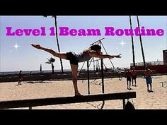 Gymnastics Level 1 Beam Routine With Coach Meggin! Gymnastics Levels, Gymnastics Skills, Gymnastics Coaching, Gymnastics Floor Routine, Gymnastics For Beginners, All About Gymnastics, Activities For Girls, Lolo, Balance Beam