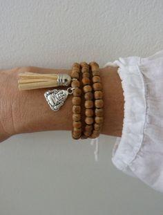 Gland bracelet collier gland bracelet Bouddha par beachcombershop