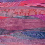 southwest_purple-velvet custom fabric by wren_leyland for sale on Spoonflower Landscape Fabric, Abstract Landscape, Purple Velvet, Cacti And Succulents, Wren, Custom Fabric, Creative Business, Spoonflower, Digital Prints