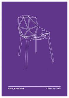 Illustration of Konstantin Grcic's Chair One via Trendland http://www.nest.co.uk/browse/designer/konstantin-grcic/magis-chair-one