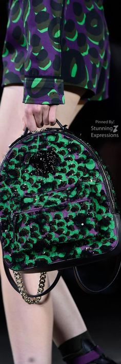 Versace Multicolor Orchid Backpack