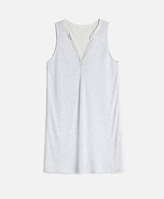 Camisa de dormir sem mangas riscas - CAMISAS DE NOITE.