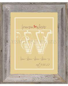Monogrammed Wedding/Anniversary Digital by lesleygracedesigns