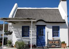 Paternoster, South Africa, Latin: Pater Noster, (Our father) is a small fishing village on the western coast of the Western Cape Province of South Africa sitting alongside Paternoster Bay. Cottages By The Sea, Cabins And Cottages, Beach Cottages, South Afrika, Cape Dutch, Cape Town, West Coast, My House, Beach House