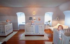 airy nursery for triplets