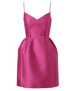 LANVIN TECHNO-SATIN COCKTAIL DRESS