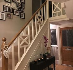 Love this bannister for our hallway!