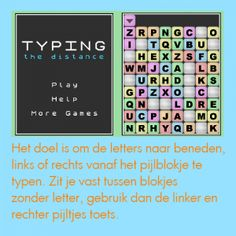 Typing distance type game www.alphenpoort.nl