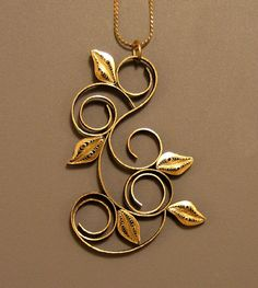 Leaves and Loops Necklace - paper jewelry by Ann Martin