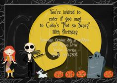 The Nightmare Before Christmas Birthday Party Ideas And Themed