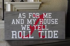 11in. by 24in. University of Alabama wood sign by SadieJayDesigns, $45.00