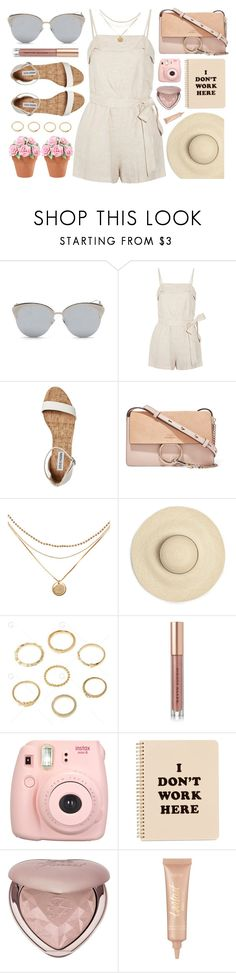 """Petite"" by smartbuyglasses ❤ liked on Polyvore featuring LMNT, Alice + Olivia, Chloé, Kevyn Aucoin, Fujifilm, ban.do, Too Faced Cosmetics, tarte, Pink and beige"
