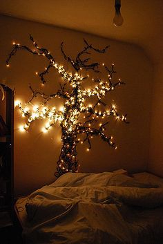 This DIY light tree would be an excellent focus piece in any room.