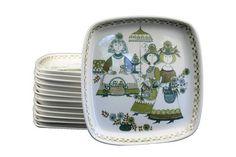 "Figgjo Flint Turi Market Design Norway 6"" Plate"