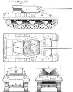 90 mm Gun Motor Carriage M36 blueprint