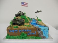 Excellent Picture of Army Birthday Cakes . Birthday Cakes For Men, Thomas Birthday Cakes, Army Birthday Parties, Thomas Cakes, Army's Birthday, Cakes For Boys, Birthday Ideas, Fourth Birthday, Army Cake