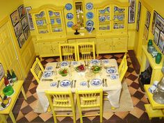 Kitchen from the Claude Monet house in Giverny, France.