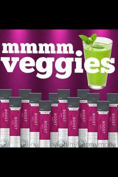 16 servings of veggies in Boost by LeVel marciatriplett.le-vel.com