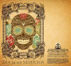 7-Day Candle Label - Dia de los Muertos (Day of the Dead)