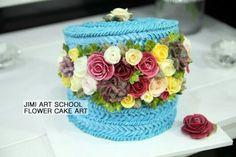 #buttercake#buttercream flowercake#flowercake#flower#햇박스케이크#cake