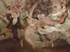 WILLETTE Adolphe,1884 - Parce Domine - Detail 020 : Français : Pierrot triste au milieu de la fête.  English: - Sad Pierrot among the festive crowd. - Montmartre -