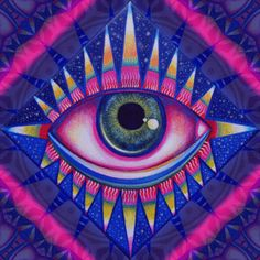 Psychedelic digital art by GypsYonic, freelance artist & graphic designer based in Vienna, Austria. Trippy Painting, Eye Painting, Kunst Inspo, Art Inspo, Psychedelic Art, Trippy Eye, Pop Art, Hippie Art, Illusions
