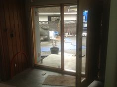 Front door being stained