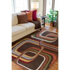 Hand-tufted Contemporary Square Mayflower Rug