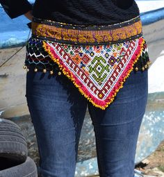KUCHI BELT AFGHAN belt hippie belt handmade belt por MISIGABRIELLA