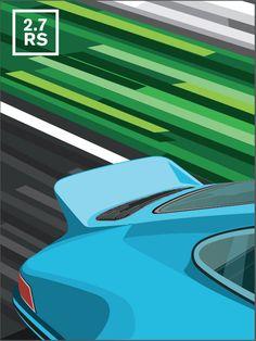 Affiche Porsche 911 2.7 RS / legarageaeugene